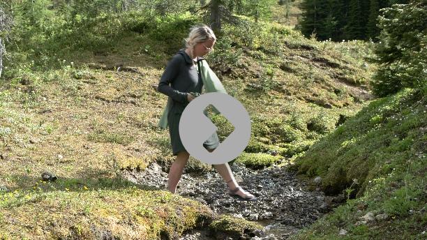 Unightie goes to the Creek unlike a Sleeping bag liner
