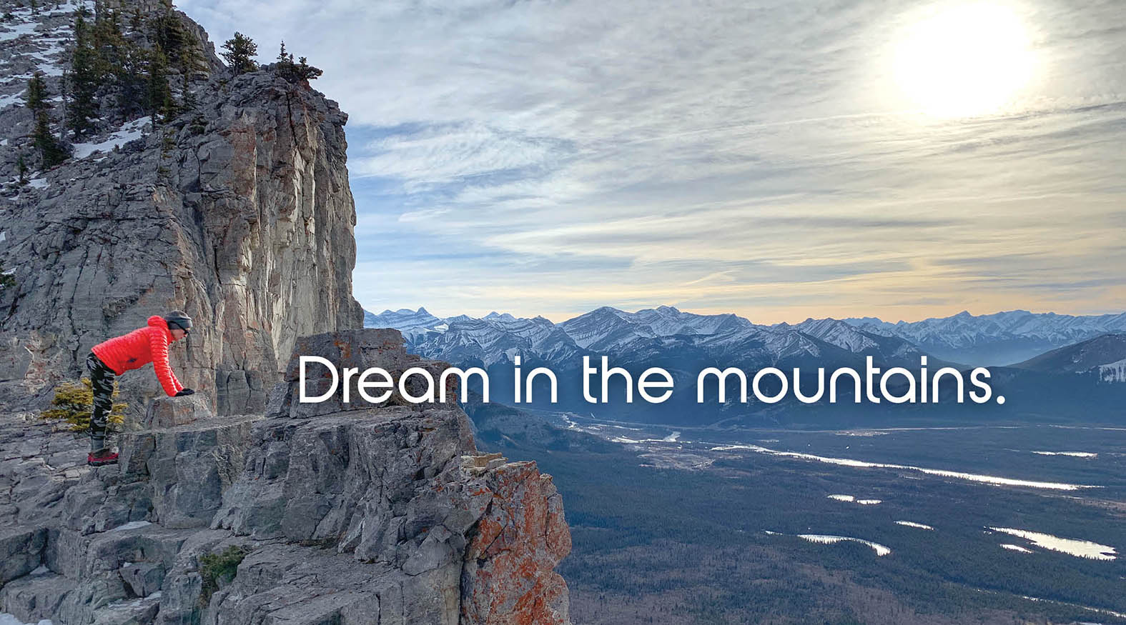 Dream in the mountains without a Sleeping bag liner ad